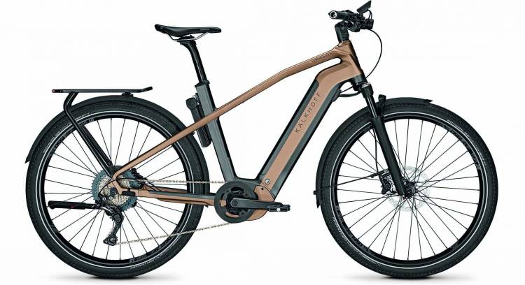 Kalkhoff Endeavour 7.B Excite diamondblack/moccabrown matt (Diamond) 2020 - E-Bike Trekkingrad Herre