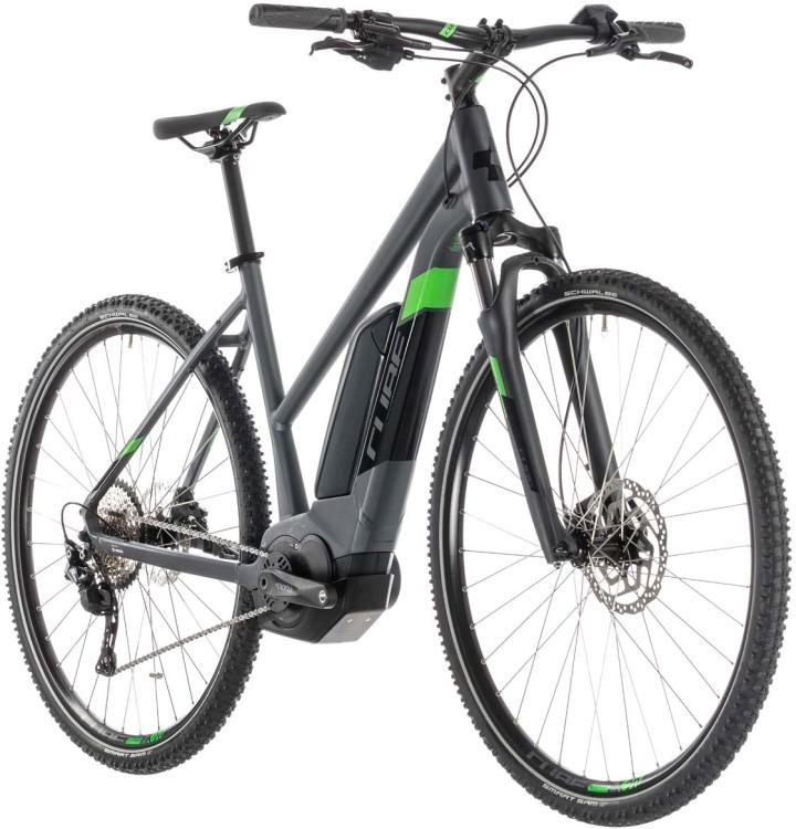 Cube Cross Hybrid Pro 500 iridium n green - Trapez 2019