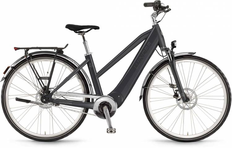 "Winora Manto M8disc 28"" FL 400Wh mysticblack 2017 - Damen Trapez E-Bike Trekkingrad"