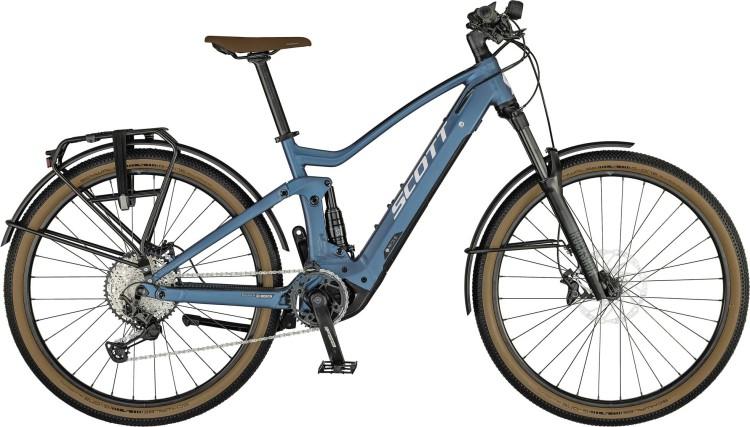 Scott Axis eRIDE Evo juniper blue 2021 - E-Bike Fully Mountainbike Trekkingrad