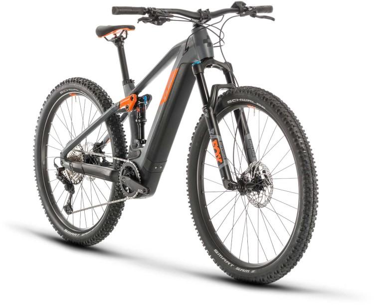 Cube Stereo Hybrid 120 Race 500 29 grey n orange 2020 - E-Bike Fully Mountainbike