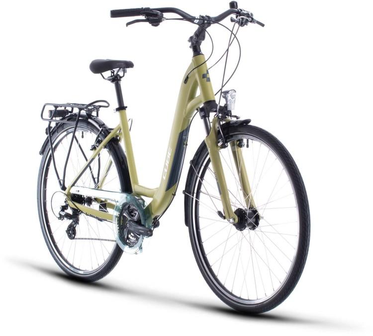 Cube Touring green n white 2020 - Trekkingrad Tiefeinsteiger