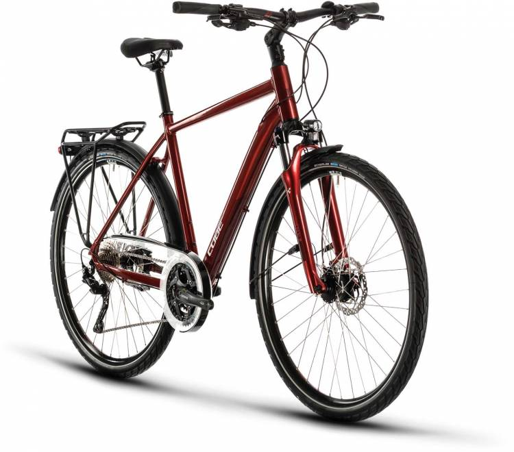 Cube Touring EXC red n grey 2020 - Trekkingrad Herren