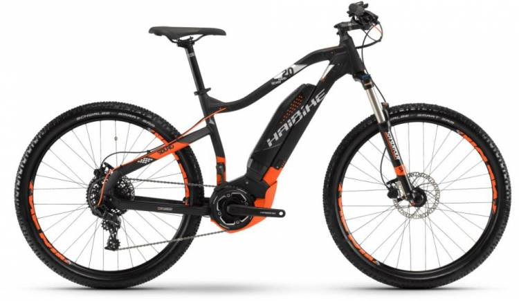 Haibike SDURO HardSeven 2.0 400Wh schwarz/orange/silber m. 2018 - E-Bike Hardtail Mountainbike