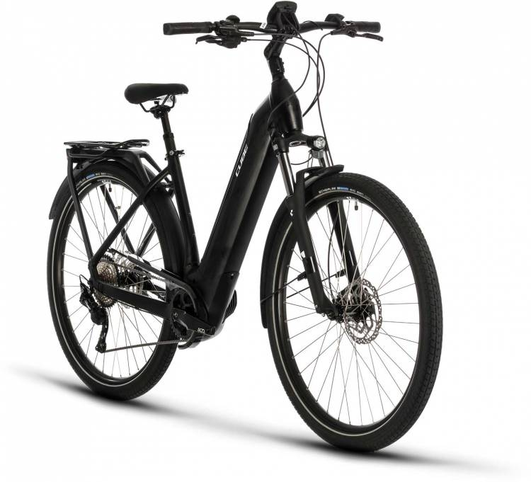 Cube Kathmandu Hybrid Pro 625 black n white 2020 - E-Bike Trekkingrad Tiefeinsteiger