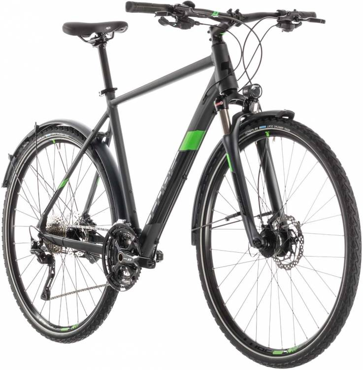 Cube Cross Allroad iridium n green - Herren 2019