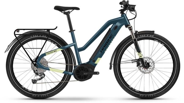 Haibike Trekking 5 i500Wh blue/canary 2021 - E-Bike Trekkingrad Damen