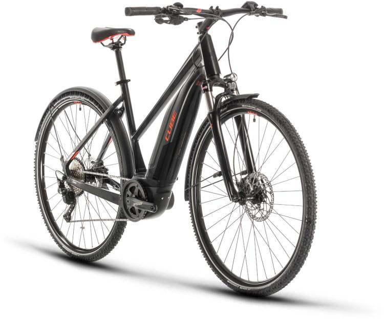 Cube Nature Hybrid EXC 500 Allroad black n red 2020 - E-Bike Crossrad Damen