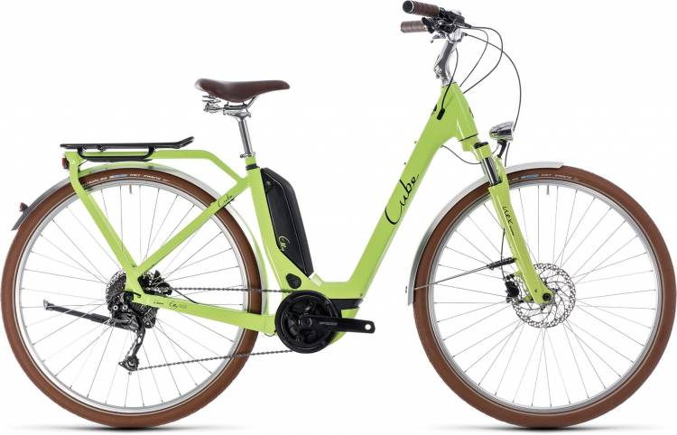 Cube Elly Ride Hybrid 500 green n black 2018 - Tiefeinsteiger Retro E-Bike Trekkingrad