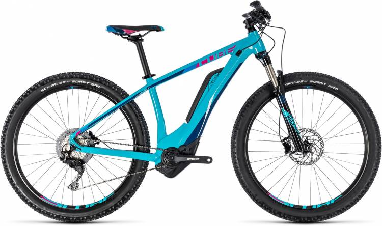 Cube Access Hybrid Race 500 turquoise n raspberry 2018 - Damen E-Bike Hardtail Mountainbike