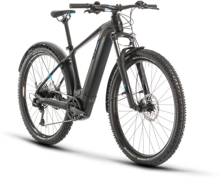 Cube Reaction Hybrid EX 500 Allroad 29 black n blue 2020 - E-Bike Hardtail Mountainbike