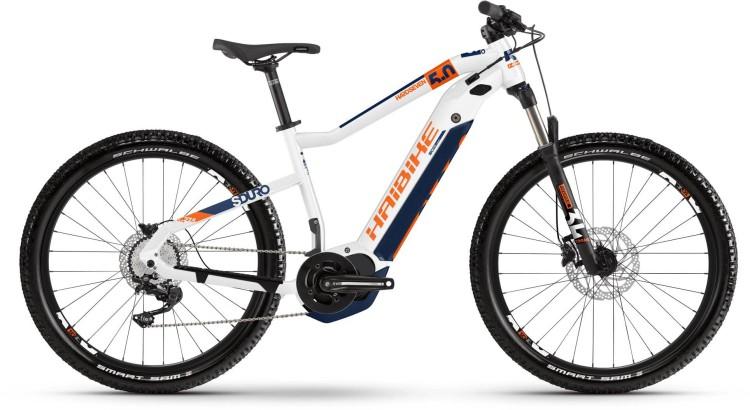 Haibike SDURO HardSeven 5.0 500Wh Weiß/Orange/Blau 2020