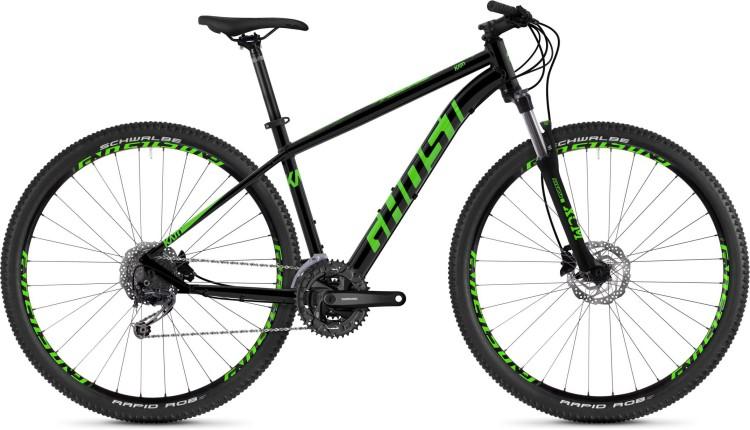Ghost Kato 4.9 AL U night black / riot green 2020 - Hardtail Mountainbike