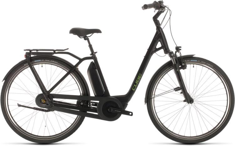 Cube Town Hybrid Pro RT 400 black n green 2020 - E-Bike Trekkingrad Tiefeinsteiger