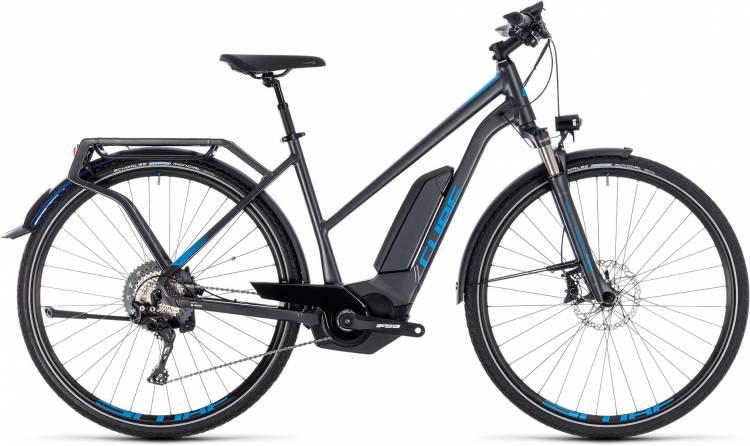 Cube Kathmandu Hybrid EXC 500 iridium n blue 2018 - Damen Trapez E-Bike Trekkingrad