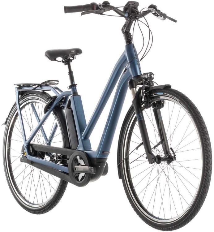 Cube Town Hybrid EXC 500 blue n blue - Trapez 2019