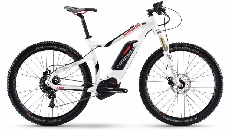 Haibike XDURO HardSeven 5.0 500Wh weiß/schwarz/rot 2017 - E-Bike Hardtail Mountainbike