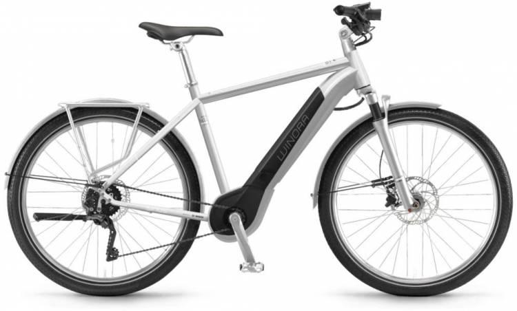 """Winora Sinus iX11 urban 500Wh 28"""" silver 2018 - Herren E-Bike Trekkingrad"""