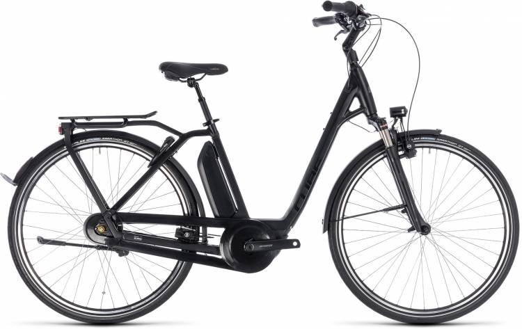 Cube Town Hybrid Pro 400 black n grey 2018 - Tiefeinsteiger E-Bike Trekkingrad