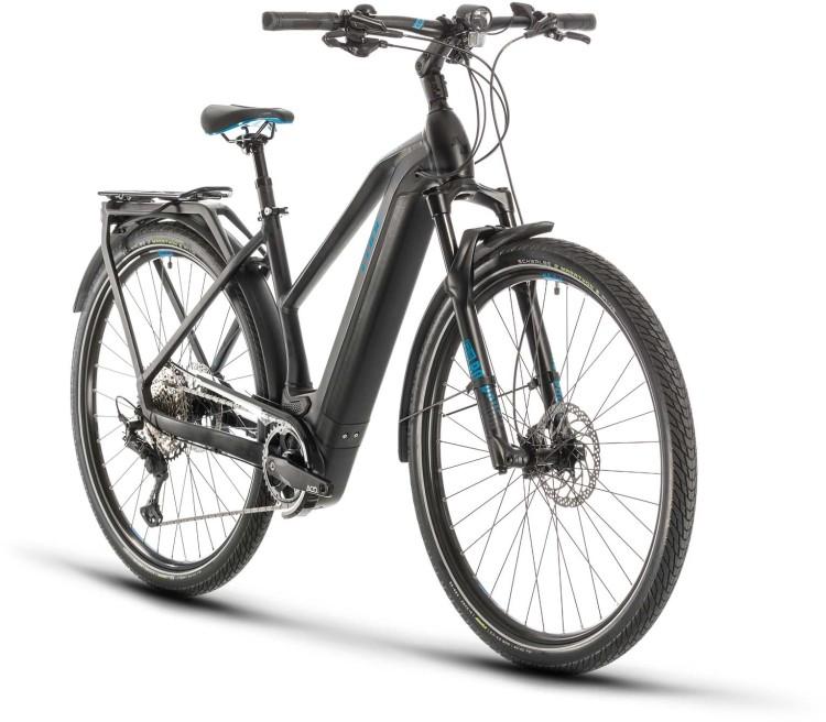 Cube Kathmandu Hybrid SL 625 black n blue 2020 - E-Bike Trekkingrad Damen