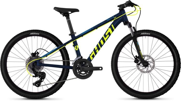Ghost Kato D4.4 AL U night blue / neon yellow / riot blue 2020 - Kinderrad 24 Zoll
