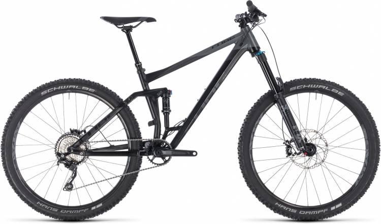 Cube Stereo 160 Race 27.5 black n grey 2018 - Fully Mountainbike