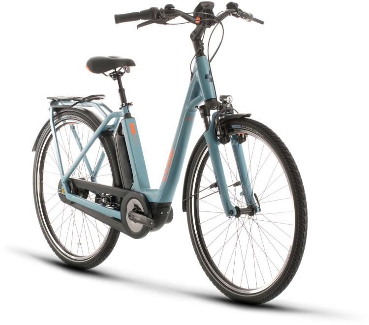 Cube Town Hybrid Pro 400 blue n orange 2020 - E-Bike Trekkingrad Tiefeinsteiger