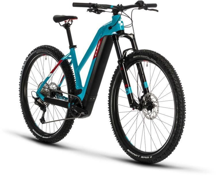 Cube Reaction Hybrid EXC 500 29 petrol n red 2020 - E-Bike Hardtail Mountainbike Damen