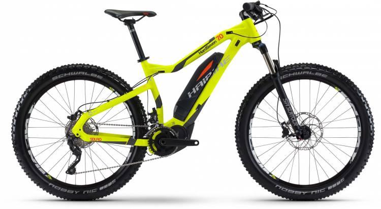 Haibike SDURO HardSeven 7.0 500Wh lime/anthr./orange matt 2017 - E-Bike Hardtail Mountainbike