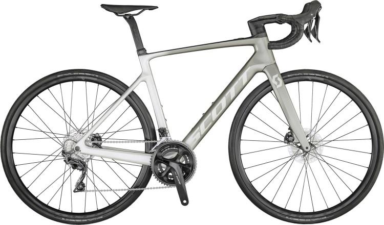 Scott Addict eRIDE 20 vogue silver fade 2021 - E-Bike Rennrad