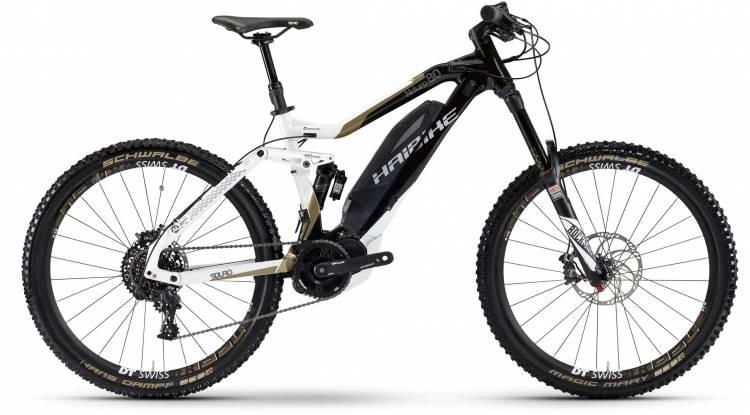Haibike SDURO NDURO 8.0 500Wh schwarz/weiß/bronze matt 2017 - E-Bike Fully Mountainbike