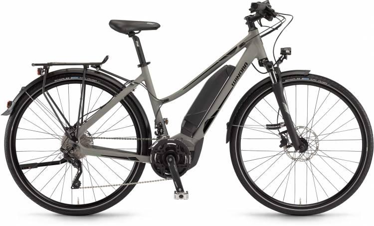 """Winora Y420.X 500Wh 28"""" militarygrey matt 2017 - Damen Trapez E-Bike Trekkingrad"""