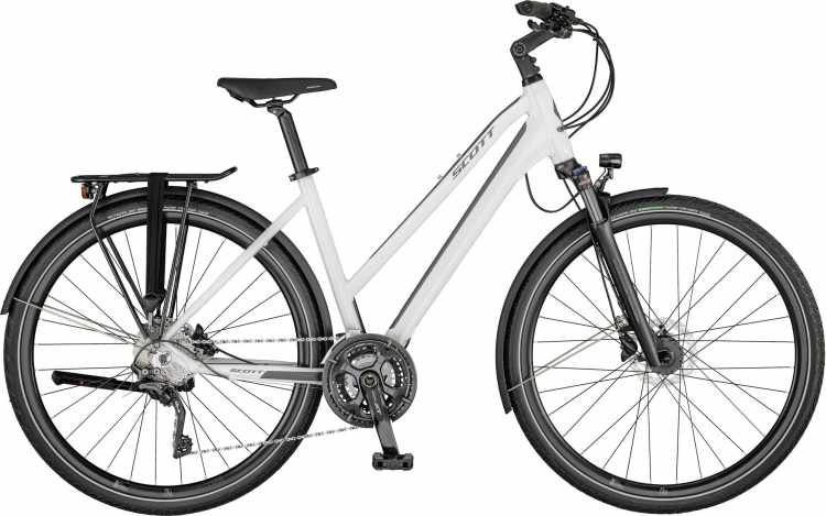 Scott Sub Sport 10 Lady gloss white / steel grey 2021 - Trekkingrad Damen
