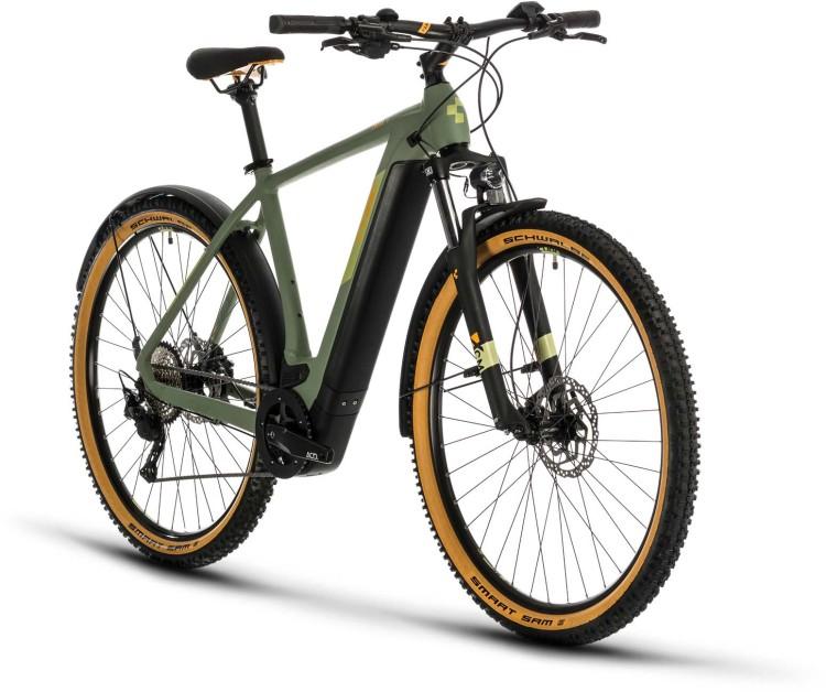 Cube Cross Hybrid Pro 625 Allroad green n orange 2020 - E-Bike Crossrad Herren