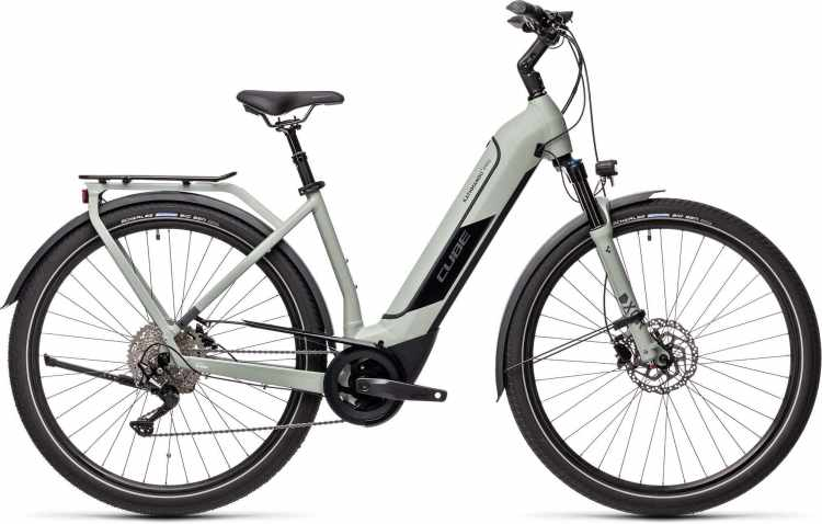 Cube Kathmandu Hybrid Pro 500 lunar n grey 2021 - E-Bike Trekkingrad Tiefeinsteiger