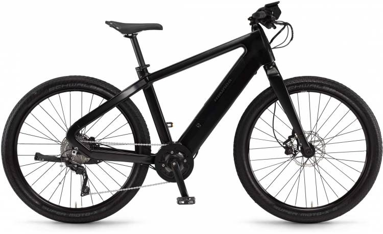 "Winora radar plain 500Wh 27.5"" schwarz matt/glanz 2017 - Herren E-Bike Fitnessrad"
