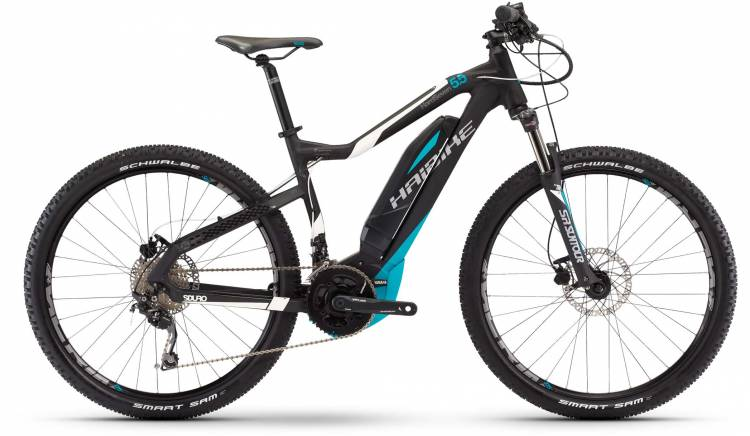 Haibike SDURO HardSeven 5.5 500Wh schwarz/weiß/cyan matt 2017 - E-Bike Hardtail Mountainbike
