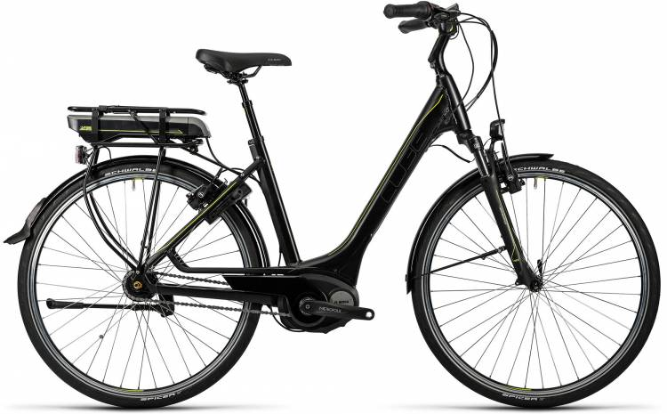 Cube Travel Hybrid 500 black n lime Damen - Easy Entry 2016