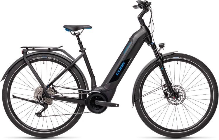 Cube Kathmandu Hybrid Pro 500 black n blue 2021 - E-Bike Trekkingrad Tiefeinsteiger