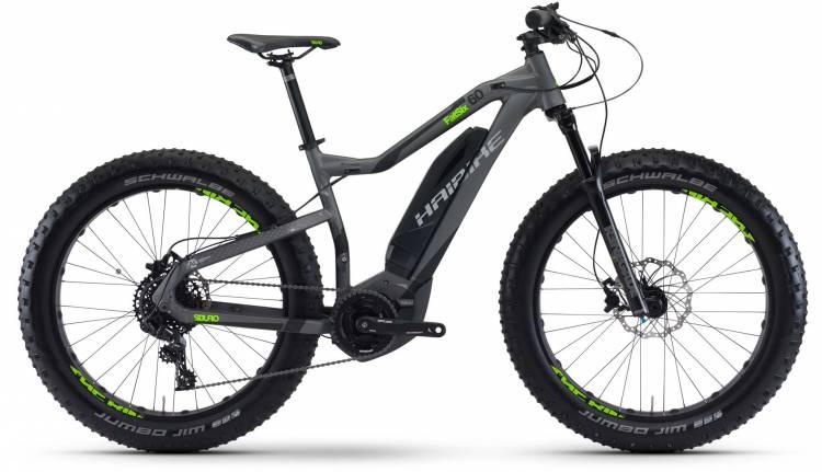 Haibike SDURO FatSix 6.0 400Wh titan/schwarz/grün matt 2017 - E-Bike Hardtail Fatbike