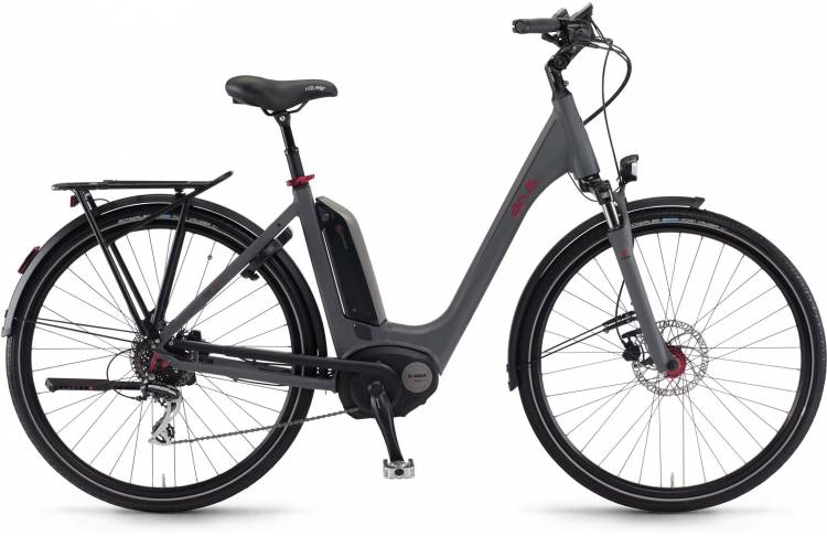 "Sinus Tria 8 400Wh 26"" schiefer matt 2017 - Tiefeinsteiger E-Bike Trekkingrad"