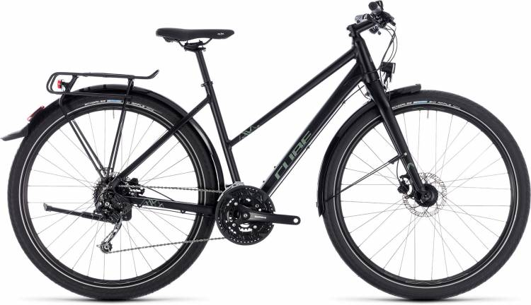 Cube Travel black n green 2018 - Damen Trapez Trekkingrad