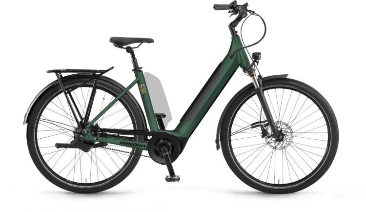 Winora Sinus R380auto i625Wh pinegreen matt 2021 - E-Bike Trekkingrad Tiefeinsteiger