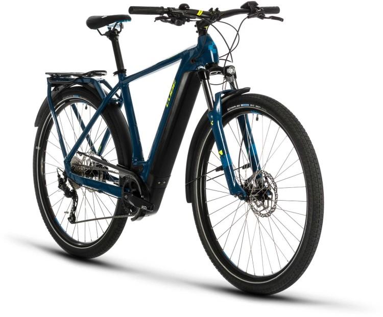 Cube Kathmandu Hybrid ONE 500 blue n yellow 2020 - E-Bike Trekkingrad Herren