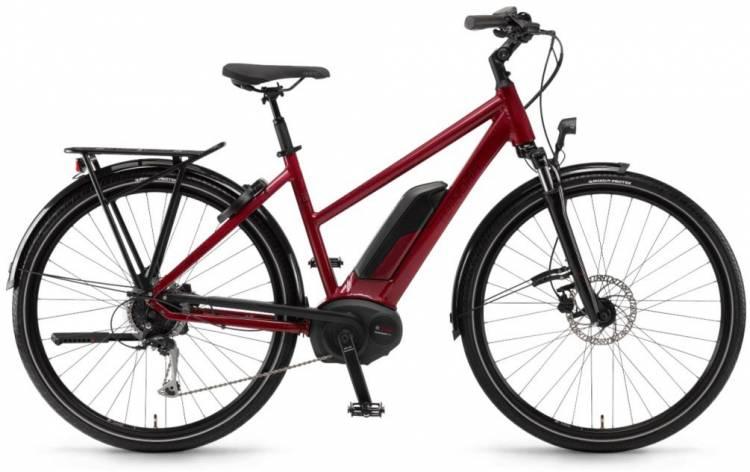 "Winora Tria 9 500Wh 28"" lasurrot 2018 - Damen Trapez E-Bike Trekkingrad"