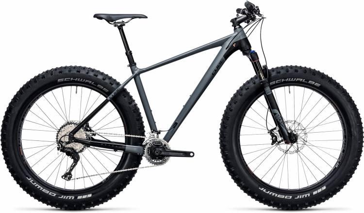Cube Nutrail Race grey n black 2018 - Hardtail Fatbike
