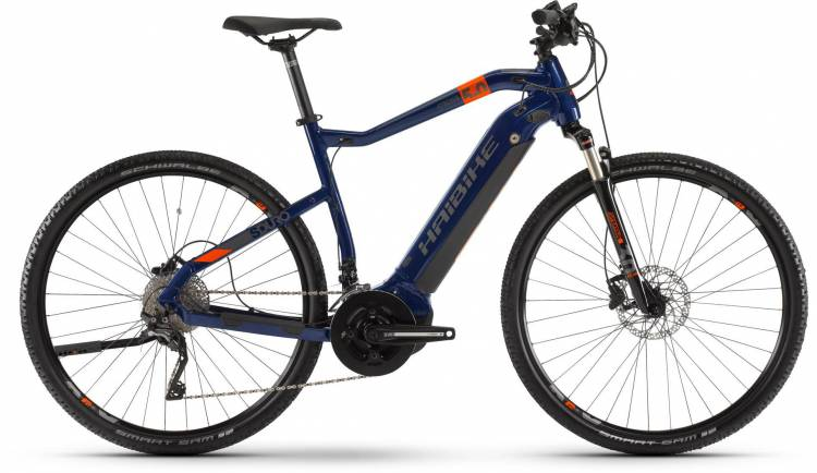 Haibike SDURO Cross 5.0 500Wh Blau/Orange/Titan 2020