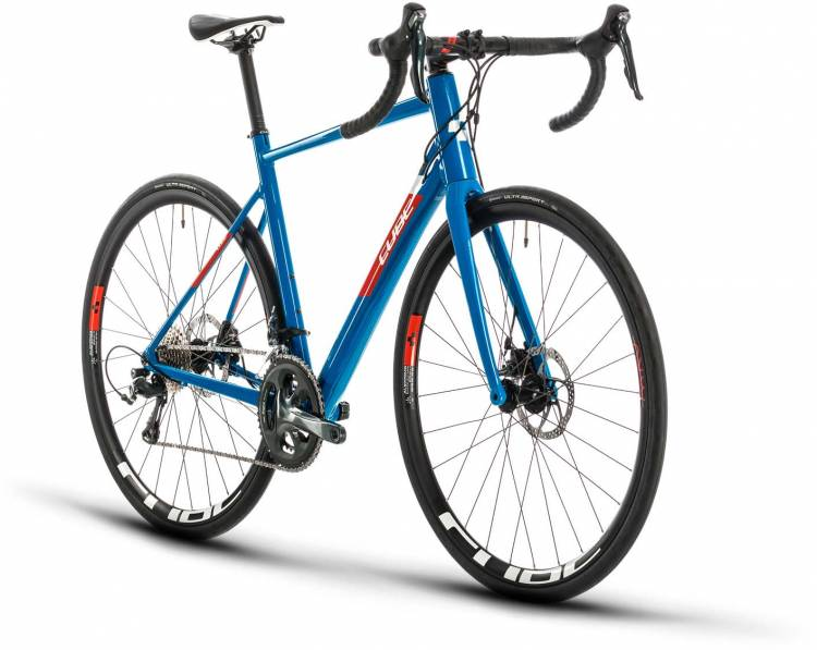 Cube Attain Race blue n red 2020 - Aluminium Rennrad Herren
