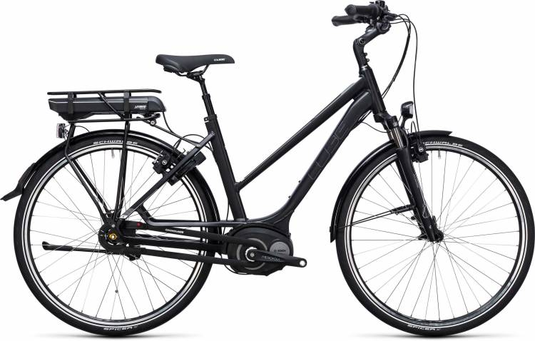 Cube Travel Hybrid 500 black n white 2017 - Damen Trapez E-Bike Trekkingrad