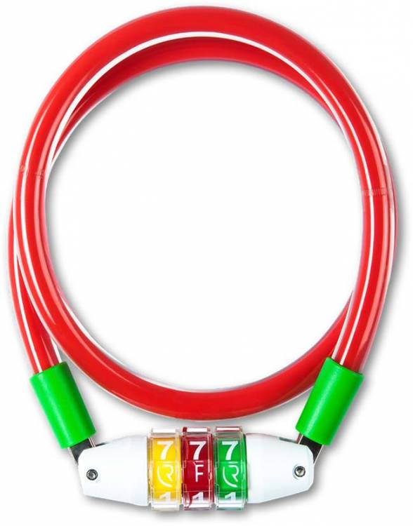 RFR Zahlenkabelschloss Style CMPT red n green